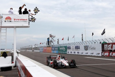 Bourdais Goes Last To First To Win For Honda At St. Petersburg Race Report