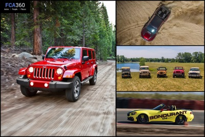 FCA360 GETS BEHIND THE WHEEL OF THE ABARTH TRACK EXPERIENCE, JUMPS INTO THE WRANGLER AND REVEALS RAM REBEL TRX CONCEPT
