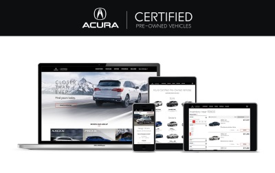 Acura Debuts New Website For Certified Pre-Owned Vehicles To Offer Enhanced User Experience, Simplified Car Buying