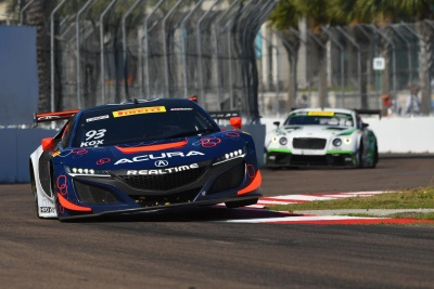 Realtime Racing Acura NSX GT3 Earns Pair Of Top 10S In 2017 Debut Race Report