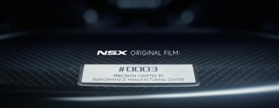 ACURA CELEBRATES NEW NSX OWNERS WITH CUSTOMIZED FILMS TIED TO EACH UNIQUE, BUILT-TO-ORDER SUPERCAR