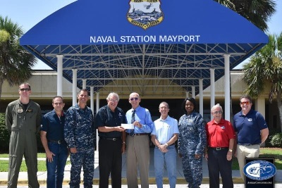 NAVY MARINE CORPS RELIEF SOCIETY RECEIVES AMELIA ISLAND CONCOURS D'ELEGANCE  ANNUAL CHARITY DONATION