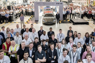 THE ASTON MARTIN DB11 GOES INTO PRODUCTION