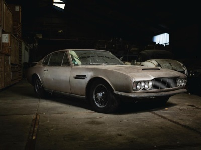ASTON MARTIN EMERGES FROM 30 YEARS HIBERNATION IN ISLAND BARN