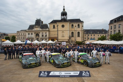 TOUCH DOWN IN LE MANS FOR ASTON MARTIN RACING