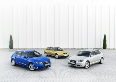 AUDI CELEBRATES TWO DECADES AND THREE GENERATIONS OF THE AUDI A3