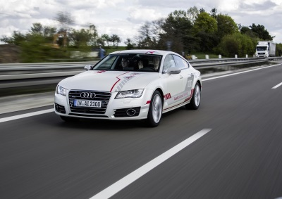 A Look Into The Future: Audi Customers Experience Piloted Driving On The A9 Autobahn