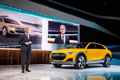 AUDI BOOTH SHOWCASES LATEST TECHNOLOGY DURING DETROIT AUTO SHOW