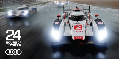 Audi of America hosts 24-hour online endurance race on Forza MotorSport 6 using the social platform, Twitch
