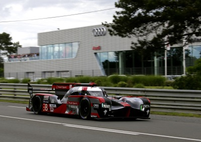 BOTH AUDI CARS ON THIRD ROW AT LE MANS