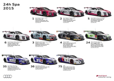 NEW AUDI R8 LMS MEETS WITH FIERCEST COMPETITION OF THE SEASON AT SPA