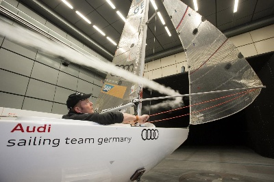 Training in the wind tunnel: Stormy times for Audi Sailing Team Germany