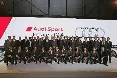 AUDI CELEBRATES ITS SUCCESSFUL RACERS