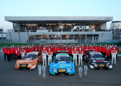 AUDI SECURES TWO OF THE THREE DTM TITLES