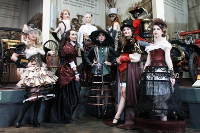 Automotive Steampunk Costumes On Show At Beaulieu's National Motor Museum
