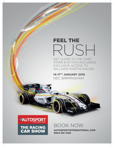 AUTOSPORT INTERNATIONAL ANNOUNCES A MAJOR WILLIAMS FEATURE AT 2016 EVENT