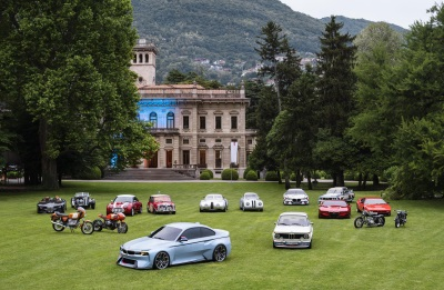 Tradition as inspiration. The BMW Group's Hommage vehicles come together for the first time at the Concorso d'Eleganza Villa d'Este 2016.