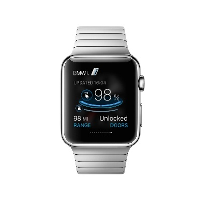 BMW CONNECTEDDRIVE AND BMW I REMOTE APP. WORLD PREMIERE: APPLE WATCH CONTROLS FUNCTIONS OF BMW I MODELS
