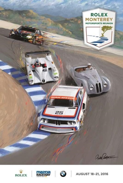 BMW MOMENTS IN TIME CAPTURED IN ROLEX MONTEREY MOTORSPORTS REUNION POSTER
