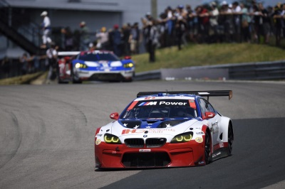 BMW TEAM RLL RETURNS TO LIME ROCK PARK WHERE THE STARS AND STRIPES LIVERIED NO 25 WILL HAVE ONE MORE CHANCE AT A PODIUM