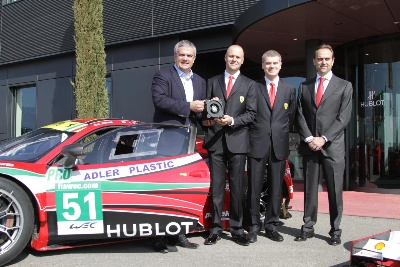 DAY OF CELEBRATION FOR BRUNI AND THE 458 WITH HUBLOT