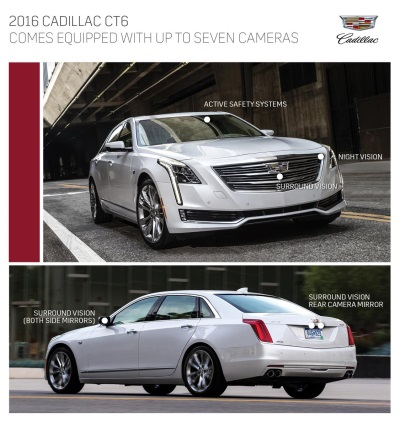 CADILLAC CT6 FEATURES INDUSTRY-FIRST SURROUND-VIEW VIDEO RECORDING SYSTE