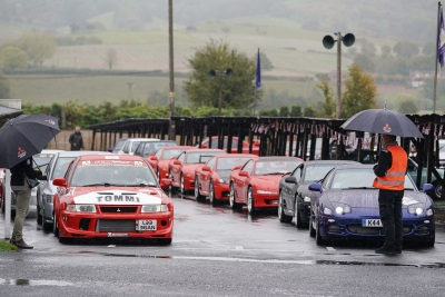 Car S.O.S Presenters And Classic Mitsubishi Fans Attend Special Centenary Tour