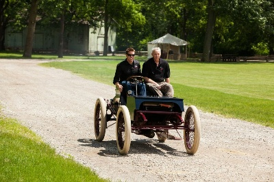 Carl Edwards Drives Historic 1901 Sweepstakes Race Car In Advance Of Henry Ford'S 150Th Birthday Celebration