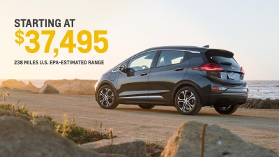 2017 BOLT EV PRICED AT $37,495