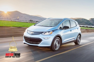 CHEVROLET BOLT EV IS MOTOR TREND CAR OF THE YEAR