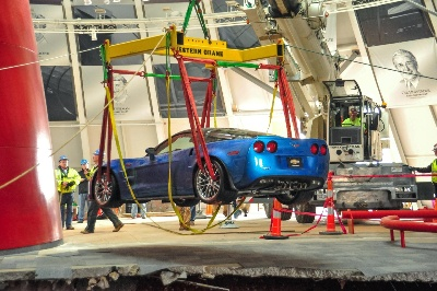 Out of Sinkhole, ZR-1 'Blue Devil' Drives in Museum