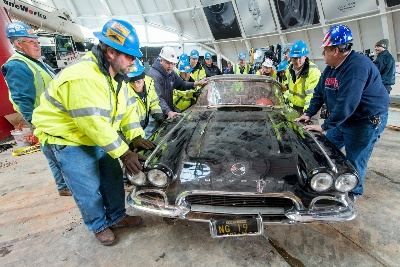 Three of Eight Corvettes Removed from Museum Sinkhole