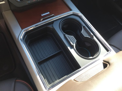 NEW, UNIQUE TRANSFORMABLE CUPHOLDER -- A TWO-INTO-FOUR-BARREL -- LAUNCHES ON 2017 FORD SUPER DUTY PICKUP