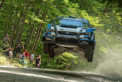 DAVID HIGGINS TAKES EARLY LEAD AT NEW ENGLAND FOREST RALLY