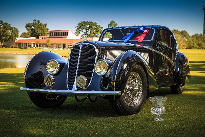 Spectacular 1936 Delahaye Type 135 Competition Court Coupe and 1969 Ford GT40 MKI take Best in Show at the Concours d'Elegance of Texas