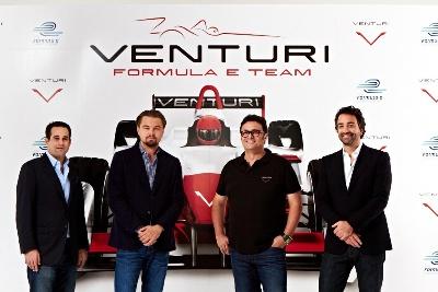 LEONARDO DICAPRIO AND VENTURI AUTOMOBILES TO LAUNCH FORMULA E ELECTRIC RACE CAR TEAM