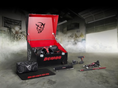 Challenger SRT Demon's Custom Crate Loaded For Speed With Exclusive Track Tool Kit Through Snap-On Business Solutions