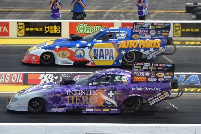 FIRST TROPHY OF YEAR FOR DODGE DRIVER BECKMAN, EIGHTH WIN OF SEASON FOR MOPAR AT NHRA CHICAGO