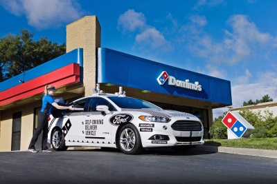 Domino's® And Ford Begin Consumer Research Of Pizza Delivery Using Self-Driving Vehicles