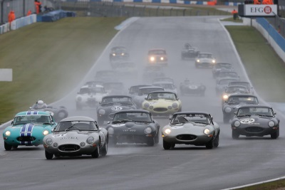 RAIN DOESN'T STOP PLAY AT THE DONINGTON HISTORIC FESTIVAL
