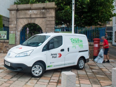 ELECTRIC NISSAN VANS DELIVER FOR JERSEY POST