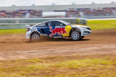 ERIKSSON PILOTS HONDA TO FIRST HEAT VICTORY IN RED BULL GLOBAL RALLYCROSS RACE REPORT