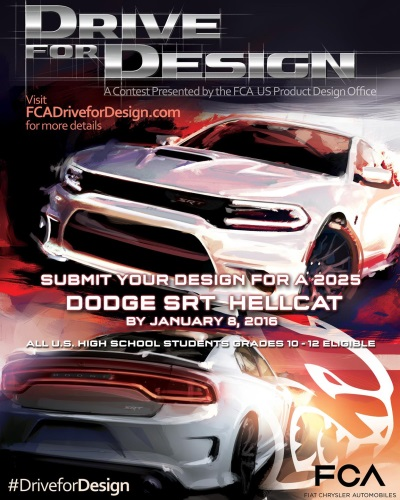 FCA US LLC ANNOUNCES DETAILS OF 2016 DRIVE FOR DESIGN CONTEST