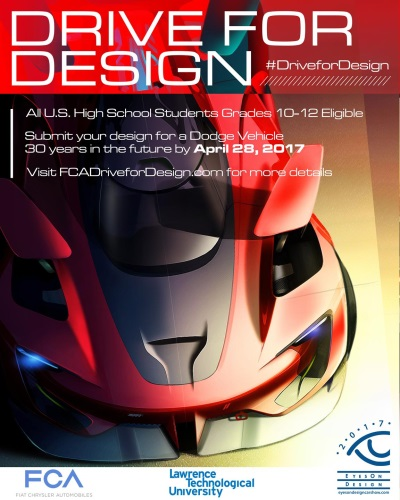 FCA US Product Design Office Kicks Off Fifth Annual 2017 'Drive For Design' Contest