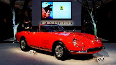 The Most Expensive Road Car Ever Sold at Auction: 275 GTB/4*S N.A.R.T. Spider Smashes Multiple Records Selling for $27.5 Million at RM's Saturday Sale in Monterey