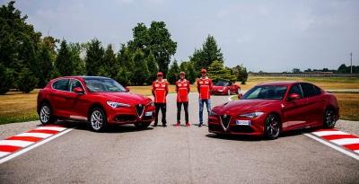 Ferrari Racing Drivers Take Alfa Romeo Giulia Quadrifoglio On Track
