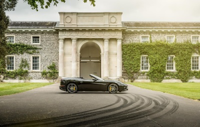 FERRARI CALIFORNIA T HANDLING SPECIALE DELIVERS 'FULL THROTTLE BREAKFAST' TO LORD MARCH AT GOODWOOD