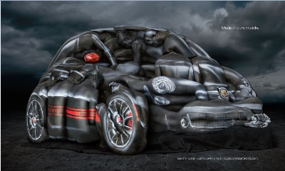 The Fiat Brand To Debut 'Body Paint' Print Ad In Espn The Magazine'S Annual Body Issue