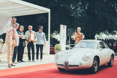 FIVA AWARDS 'BEST PRESERVED VEHICLE' TO ALFA GIULIETTA SZ ZAGATO