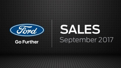 Ford Sales Up 8.7 Percent In September; F-Series Trucks Up 21.4 Percent; Transit Vans Gain 25.4 Percent